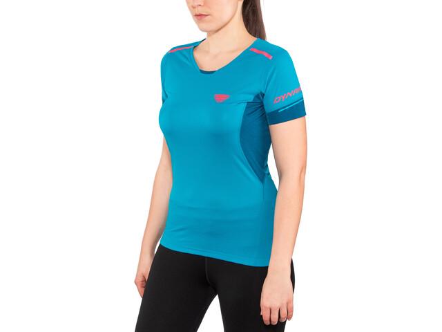 Dynafit Vert 2.0 Koszulka do biegania z krótkim rękawem Kobiety niebieski